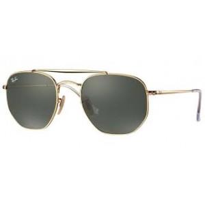 Oculos de Sol Ray-Ban Hexagonal Marshal - Dourado e Lente G15 RB3648