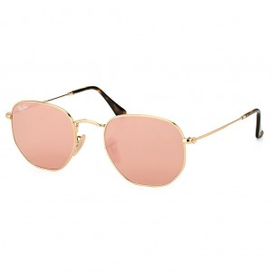 Óculos de Sol Ray-Ban Hexagonal Rosa Espelhado