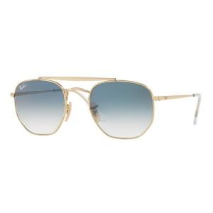 Oculos Ray-Ban Hexagonal Marshal - Dourado e Azul Degrade RB3648